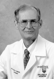 A picture of Dr. William S. Pierce.  Click for 300 DPI version.